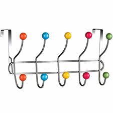 Appendiabiti da Porta con 10 Ganci e Pomelli Multicolore Gancio Dietro porta