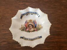 Aynsley England Queen Elizabeth II Bone China Coronation Mini Candy Bowl 1953