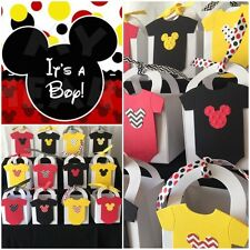 12 Mickey Mouse Thank You Favor Boxes ~ Baby Shower Or 1st Birthday Party