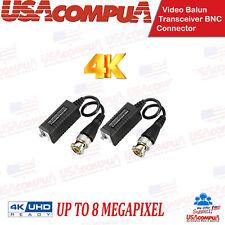HD 8mp 5mp 1080p CVI TVI AHD Video Balun Coax BNC to UTP CAT5  CCTV HD Camera