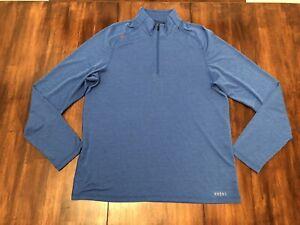 Mens RHONE Sequoia 1/4 Quarter Zip Athletic Stretch Pullover Jacket Large L