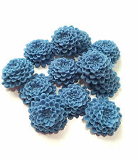 12 Edible Cornflower Blue Chrysanthemums Flower Wedding Cake Decorations Toppers