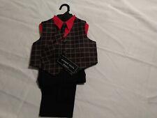 Andrew Fezza Boy Suit 18m Color Black 3 Pieces Set Outfit