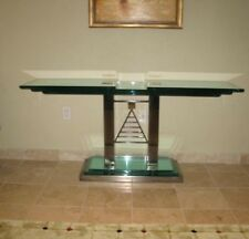 Glass Top Console Table Mid-Century Modern by Kaizo Oto for DIA