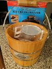 Aroma Ice Cream Maker 4 Quart Wood Bucket Frozen Treats Hand Crank  Electric