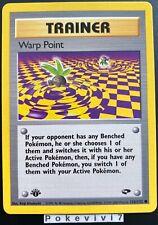 Carte Pokemon WARP POINT 126/132 Gym Challenge EDITION 1 Wizard Near Mint