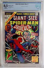 Giant-Size Spider-Man & Dracula # 1 CBCS 8.5 1974 John Romita - Human Torch App
