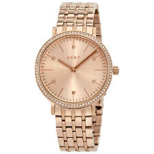 DKNY Minetta Rose Dial Rose Gold-tone Ladies Watch NY2608