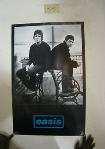 Oasis Poster Band Shot Black And White Benches By The Bay