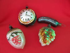 New ListingVintage Christmas European Qty 4 Glass Ornaments Germany East & West + Poland