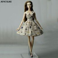 """Kahki Cartoon Fashion Doll Dress For 11.5"""" 1/6 Doll Clothes Outfits Party Dress"""
