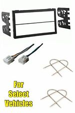 Double Din Car Stereo Radio Install Dash Kit + Wire Harness+ Tool select Mazda