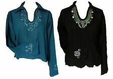 Rayon V Neck Classic Fit Casual Tops & Shirts for Women