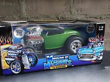 Muscle Machines '32 Ford Roadster 1:18 Scale Diecast 1932 Hot Rod Coupe Car Grn