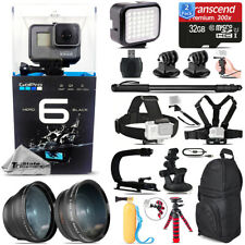 GoPro HERO6 Black Camera+ Wide angle & Telephoto Lens + 64GB - Loaded Bundle