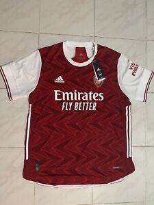 Adidas 2021 Arsenal Home Authentic Soccer Jersey Men's XL FH7815 Red