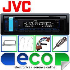 Ford Ka Plata Kit de montaje con Jvc Auto Cd Mp3 Estéreo Rds Sintonizador Usb Aux Iphone