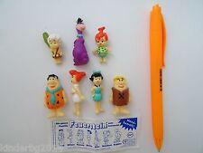 Collectible complete set 7 figures toys The Flintstones Frigeo 1997