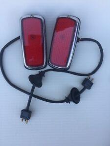 2Pcs Early Rear Side Marker Lights Set For w108 109 w111 w113 w114 115 w123