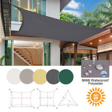 Waterproof Sun Shade Sail 300D UV Outdoor Awnings for Patio Yard Pool Top Cover