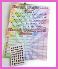 Weight Loss Chart & Meal planner inc stickers pen Slimming world Weight watchers