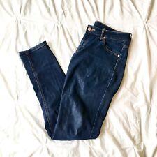 5ec76deeaf MNG Mango Jeans Alice dark wash denim skinny straight leg pants size 6