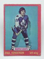 1973 74 OPC O Pee Chee Paul Henderson 7 Toronto Maple Leafs Ice Hockey Card E434