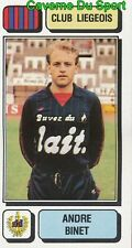 163 ANDRE BINET BELGIQUE RFC.LIEGEOIS STICKER FOOTBALL 1983 PANINI