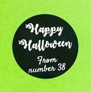 Personalised Black Vinyl Halloween Craft Stickers Labels