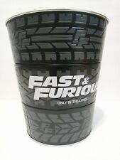 Fast and the Furious 9 F9 Collectible Popcorn Tin Bucket Movie Theater NEW