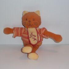 Doudou Chat Sucre d'Orge - Orange