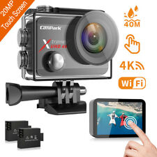 Campark 4K HD Sports Action Camera 20MP Touch Screen WiFi 40M Waterproof Camera