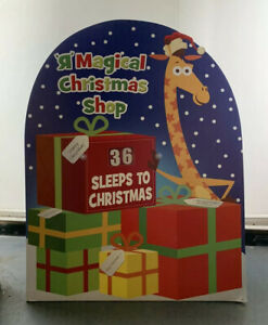 Large Count Down Days Christmas shop Rare Display window Toy R Us Advent Jeffrey