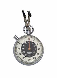 Vintage 1970s Swiss Made Mechanical Stopwatch for Gallenkamp