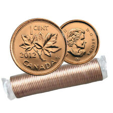 2012 NON-MAGNETIC Canadian 1-Cent Maple Leaf Twig Penny Original Coin Roll