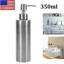 350ml Sink Soap Dispenser Kitchen Stainless Steel Hand Liquid Pump Bottle Usa