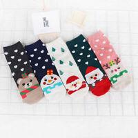 Women Cotton Socks Ankle Fashion High Cute Winter Warm Casual Christmas Cartoon
