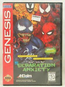 Spider-Man Venom Separation Anxiety Case (SEGA Genesis) Authentic BOX ONLY!