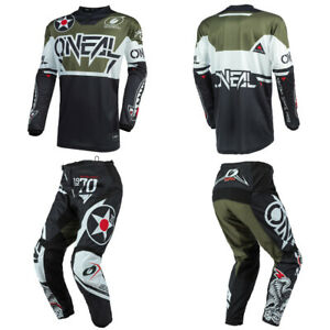 O'Neal Element Warhawk Green Jersey Pants motocross MX dirt bike gear package