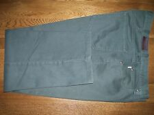 L.L. Bean Green Denim Jeans sz 38 x 28.5 100% Cotton Classic Fit Nicely Altered