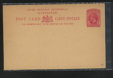 Gibraltar   postal  card   1 penny   unused           KL0517
