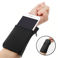 Wrist Band Wallet Key Coin Zipper Money Pocket for Gym Sports Travel Supply