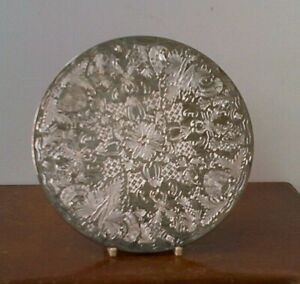 """Vintage Grenadier """" Silver Plated"""" Place Mat."""
