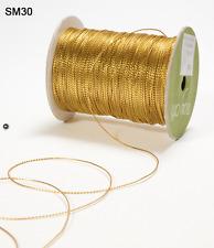 String Burlap Ribbon - May Arts - SM30 - Metallic Gold - 5 Yards