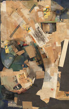 Framed Print - Kurt Schwitters Picture of Spatial Growths (Collage Picture Art)