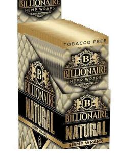 Billionaire Flavored Herbal Wraps Natural/Original Box 25/2ct