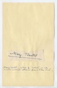 MARY TOURTEL - Creator of Rupert Bear - GENUINE HAND SIGNED AUTOGRAPH - 1935