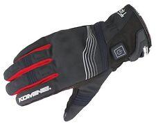 KOMINE - ELECTRIC HEAT 12v Protect Short Motorcycle E-Gloves EK-202 - BLACK/RED