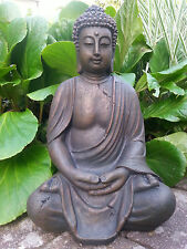 XL Großer Buddha sitzend braun ca. 40 cm NEU Figur Feng Shui Skulptur Lotus ASIA
