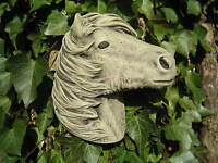 Small Horse  Wall Plaque stone garden ornament | Many more ornaments in my shop!